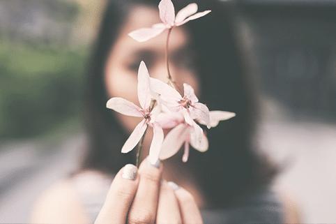 fleur de cerisier portrait femme