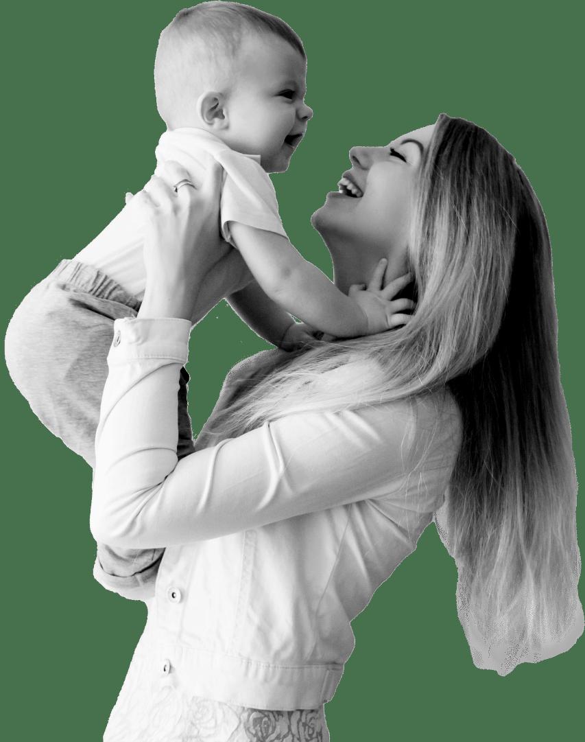 maman active et bébé
